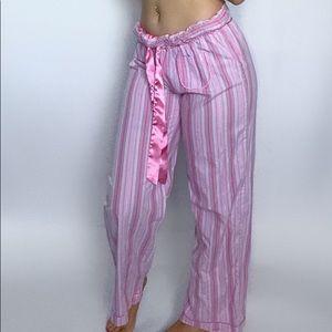 La SENZA Vintage Straight-Leg Pink Pajama Bottoms